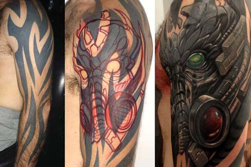 Charming Cover Up Tattoos Designs
