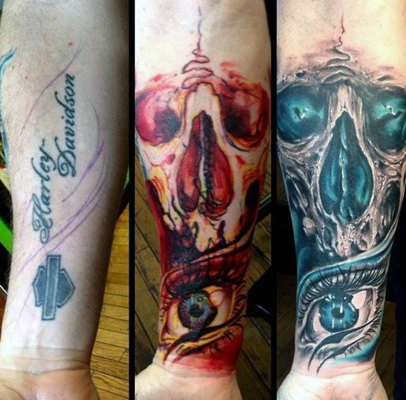 Charming Cover Up Tattoos