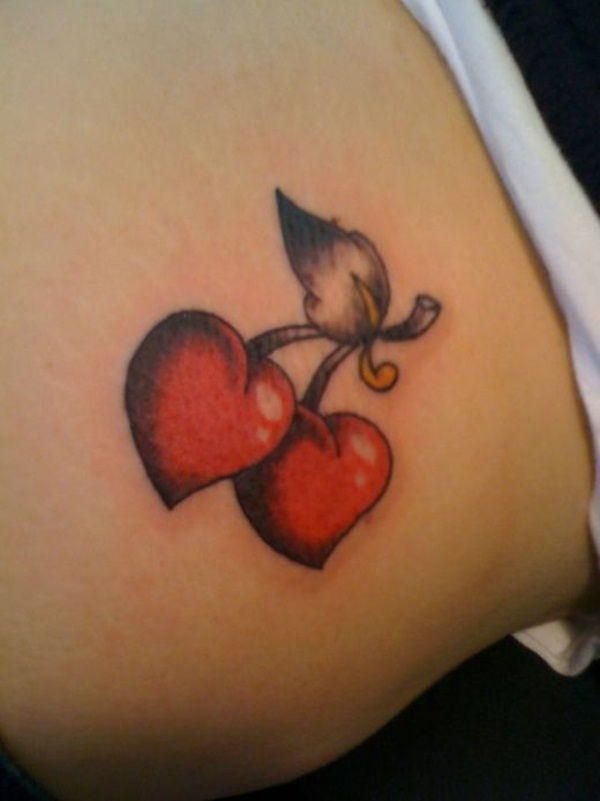 Charming Red Ink Tattoo Designs