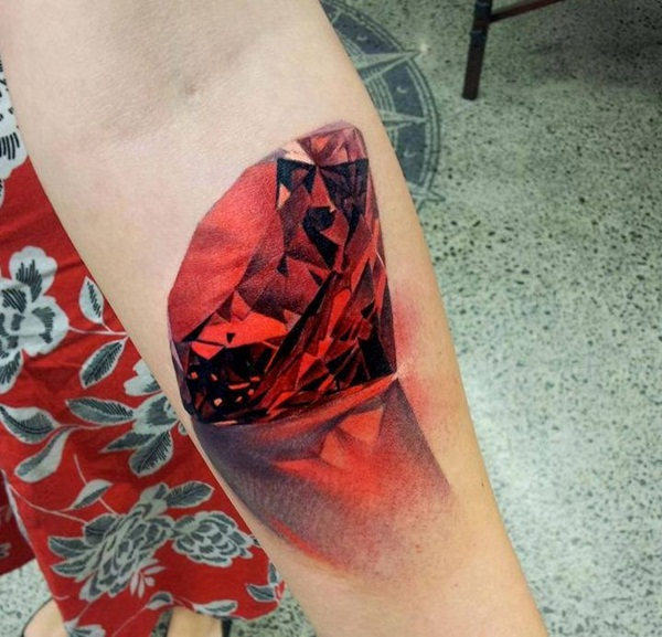 Cool Red Ink Tattoos