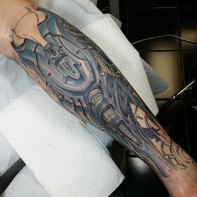 Cute Biomechanical Tattoos