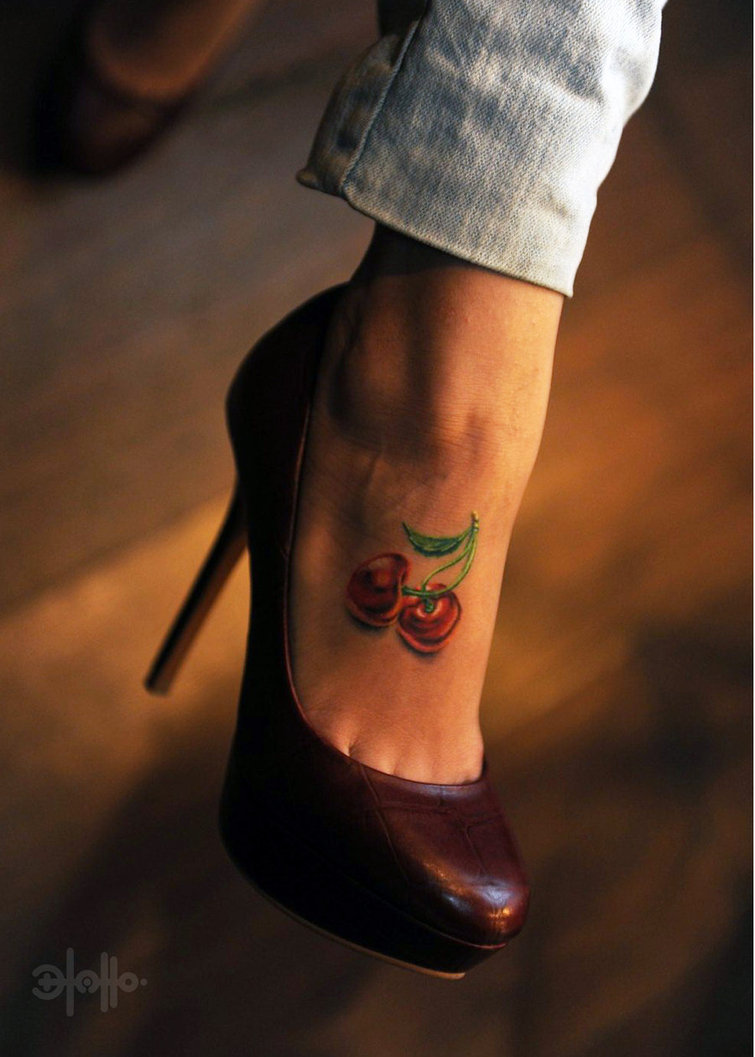 Cute Cherry Tattoos
