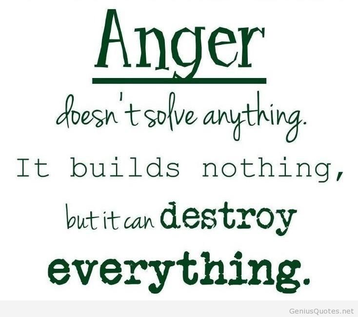 Elegant Anger Sayings