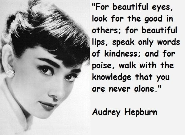 Elegant Audrey Hepburn Sayings