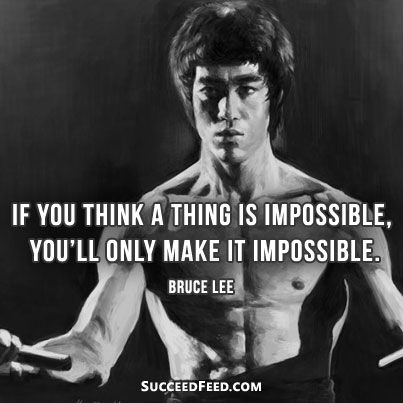 Elegant Bruce Lee Quotation and Sayings