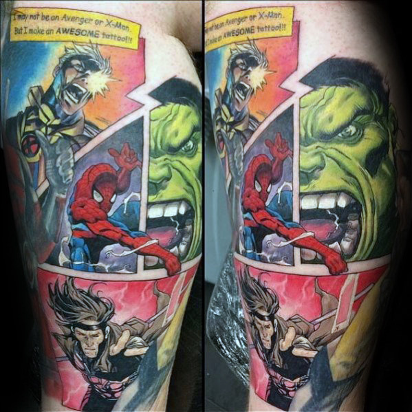 Elegant Comic Tattoo