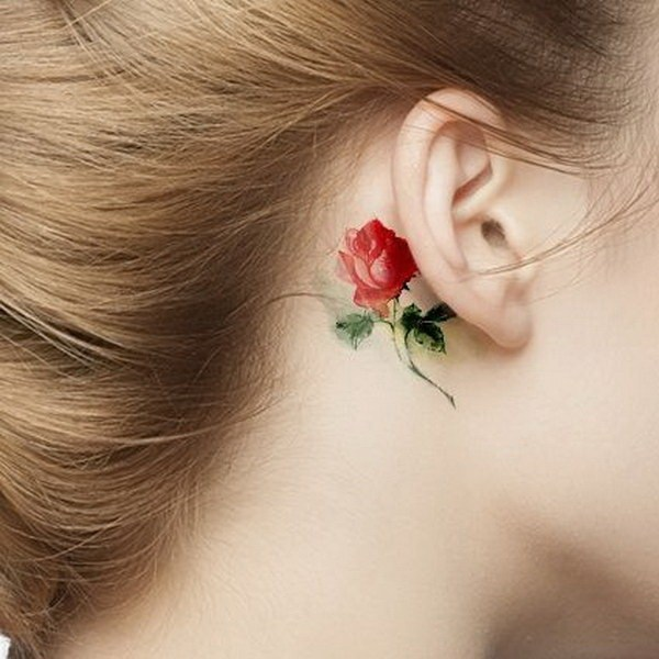 Elegant Ear Tattoo Designs