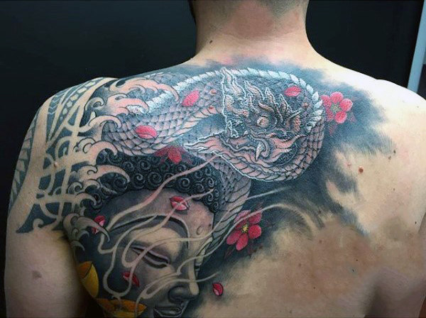 Elegant Upper Back Tattoo