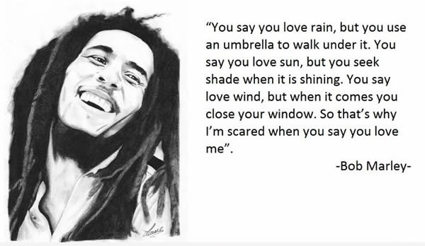Exclusive Bob Marley Quotations and Sayings