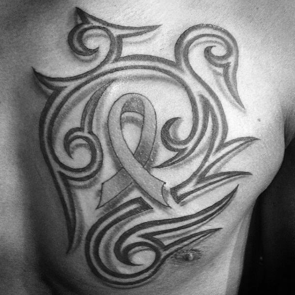 69 Best Cancer Ribbon Tattoos Designs And Ideas Collection