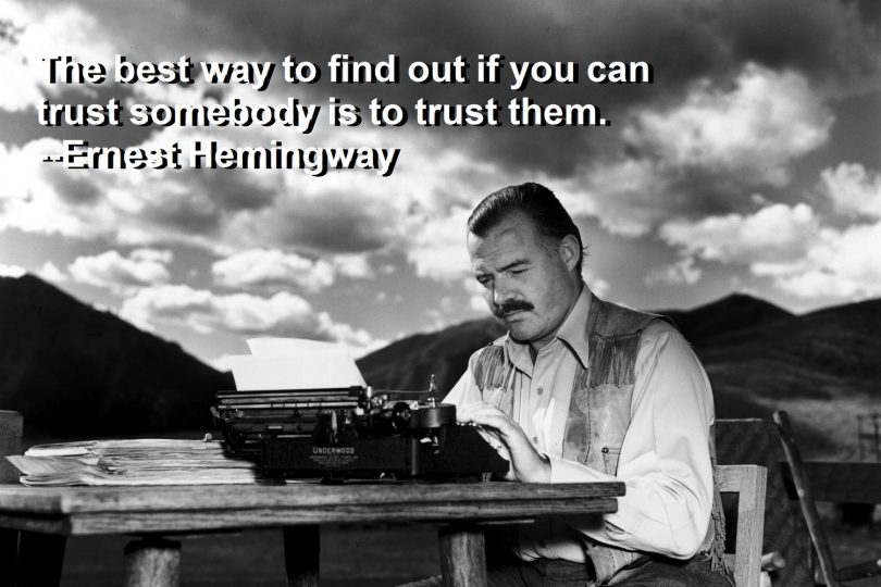 Exclusive Ernest Hemingway Quotations