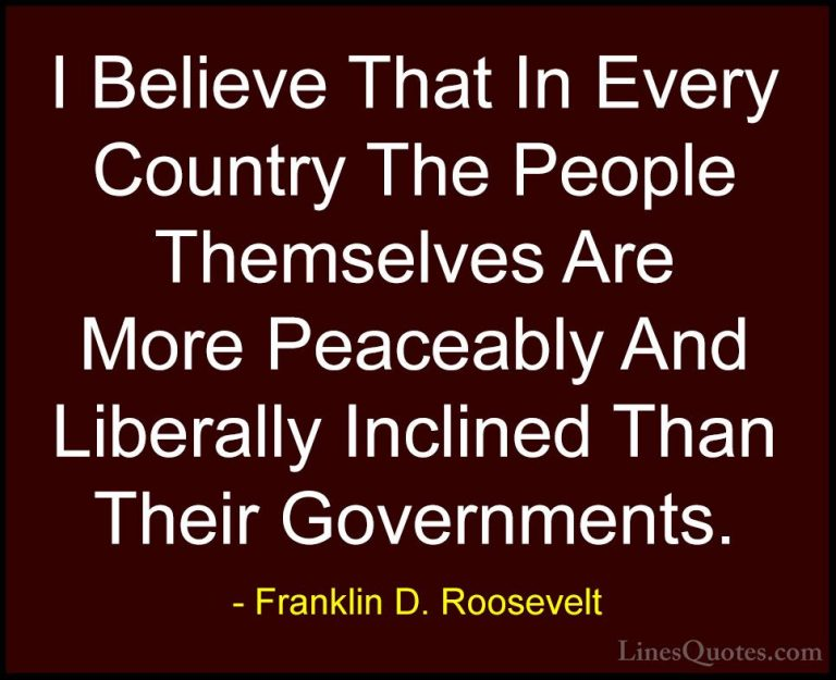 Exclusive Franklin D Roosevelt Sayings