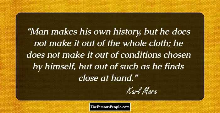 Exclusive Karl Marx Quotations