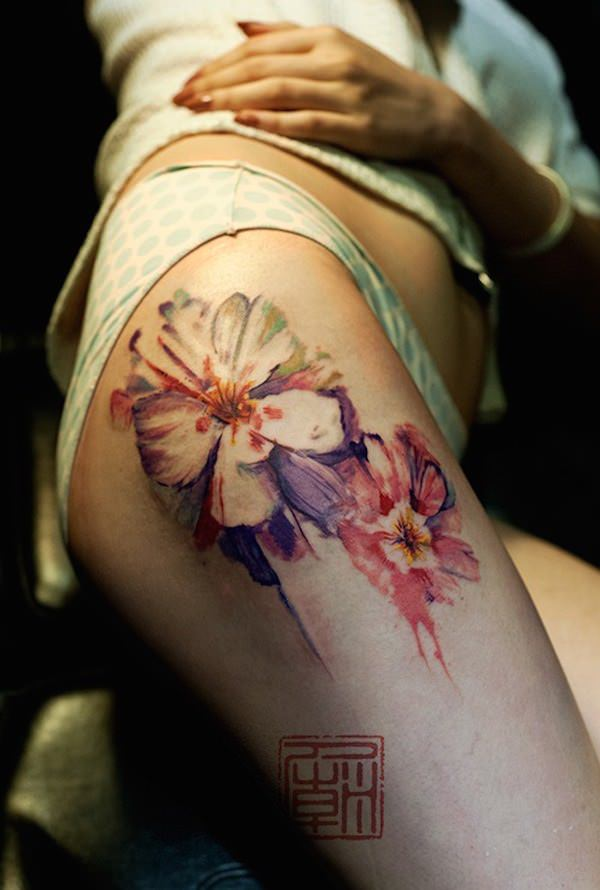 Exclusive Thigh Tattoos Designs