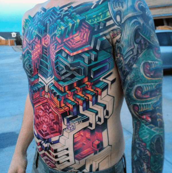 Extreme Abstract Tattoos