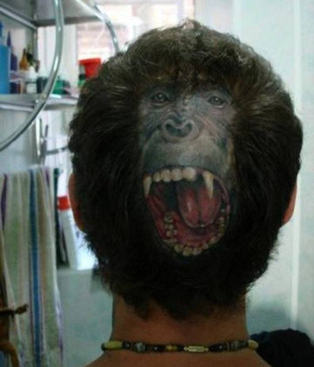 Extreme Head Tattoos Designs