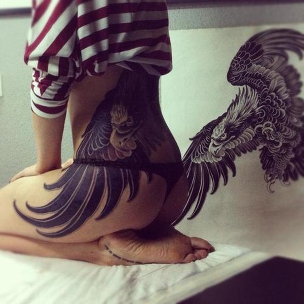 Extreme Lower Back Tattoos Designs
