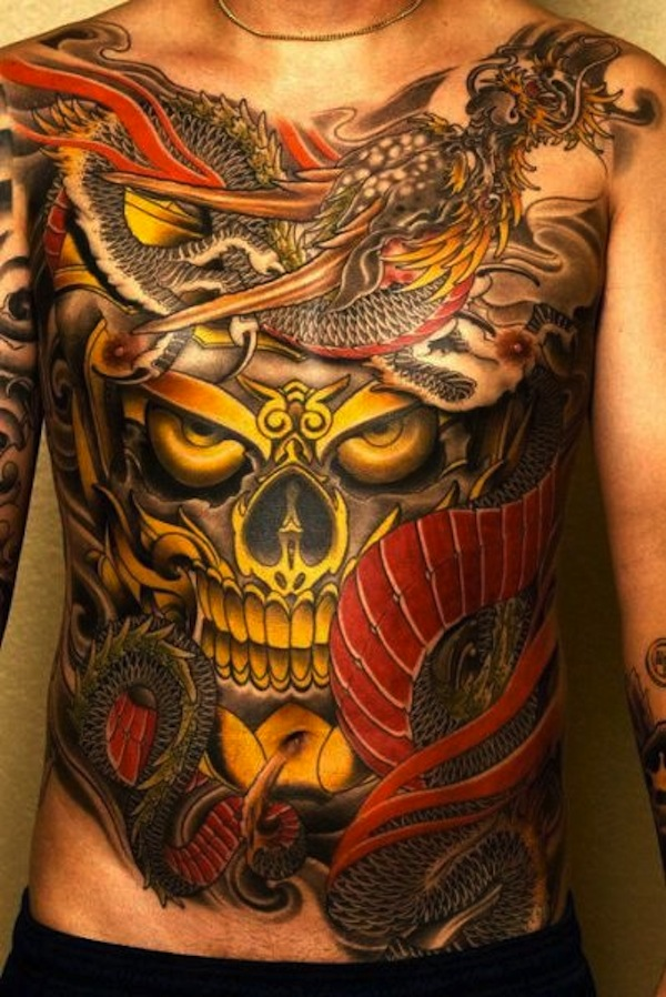 Extreme Stomach Tattoo