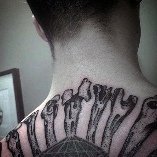 Extreme Upper Back Tattoo Designs