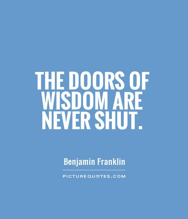 Fabulous Benjamin Franklin Quotation