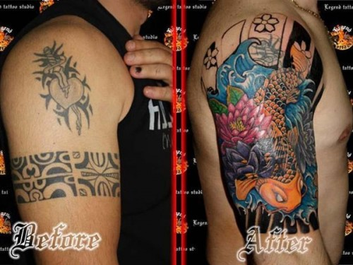 Fabulous Cover Up Tattoo Design