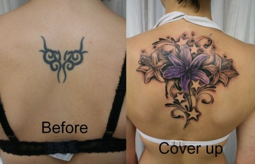 Fabulous Cover Up Tattoos Designs