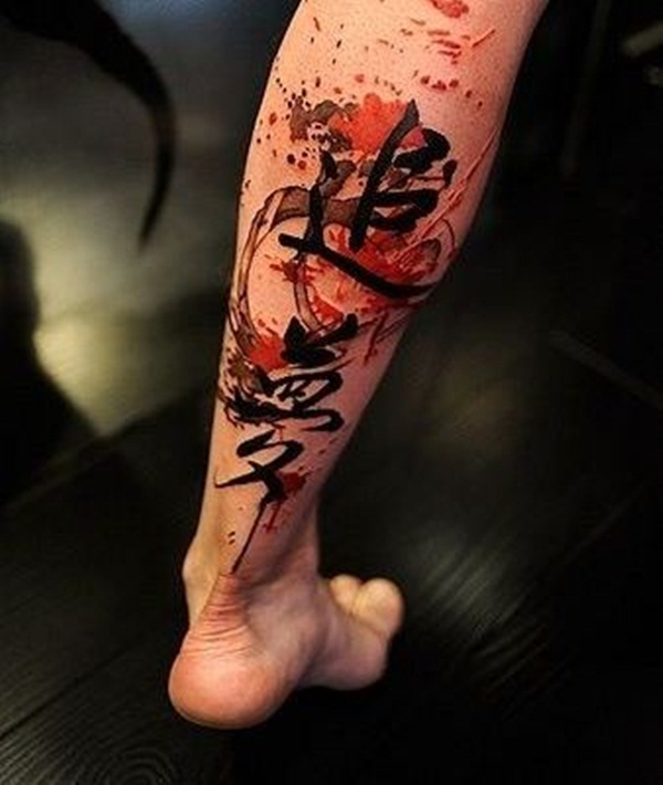Fabulous Red Ink Tattoo Designs