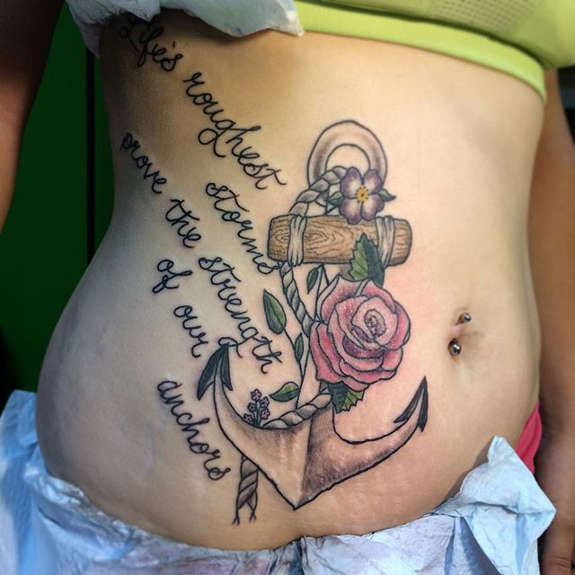 Fabulous Stomach Tattoos Designs