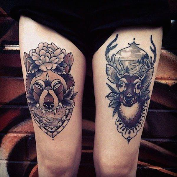 Fabulous Thigh Tattoo