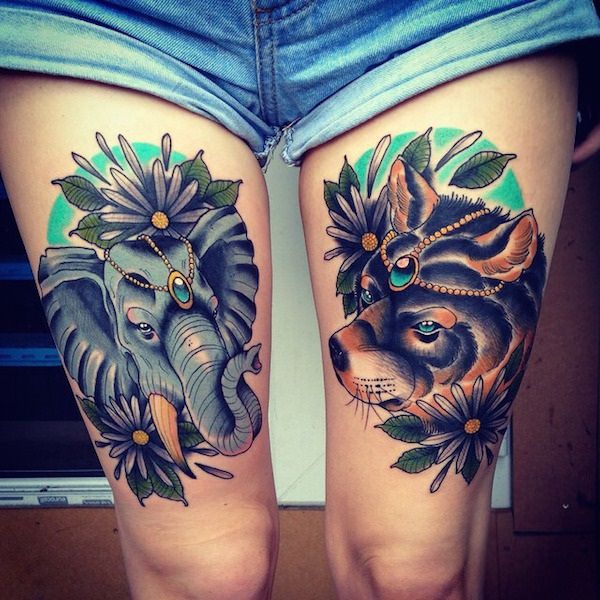 Fabulous Thigh Tattoos