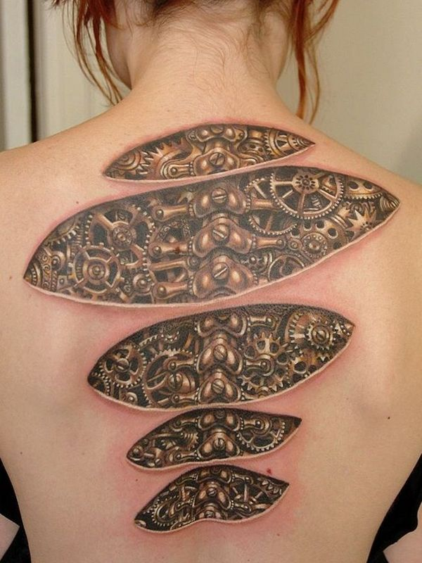 Fantastic Biomechanical Tattoo