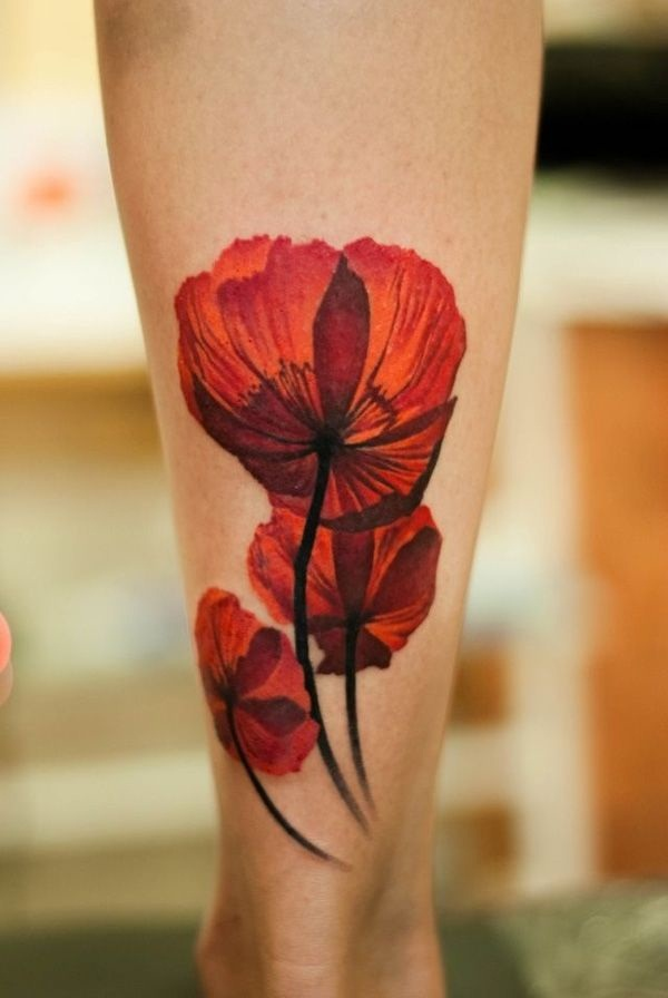 Fantastic Red Ink Tattoo Designs