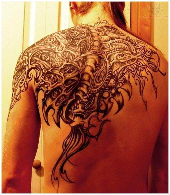 Fantastic Upper Back Tattoo