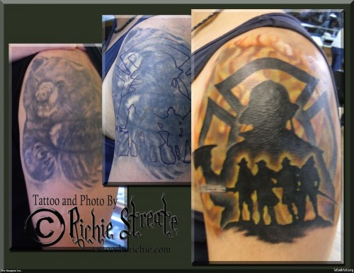 Incredible Cover Up Tattoos Design