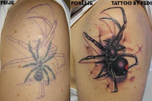 Incredible Cover Up Tattoos Designs