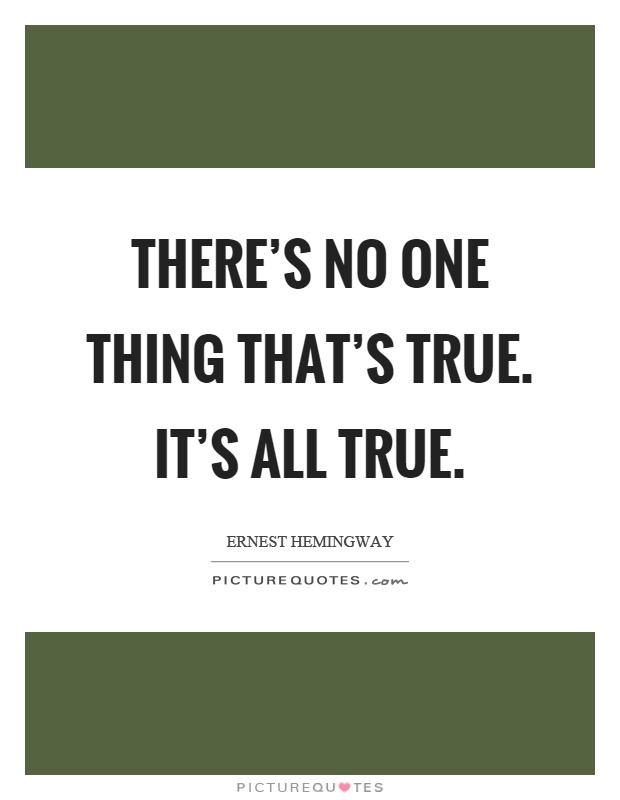 Incredible Ernest Hemingway Quotation