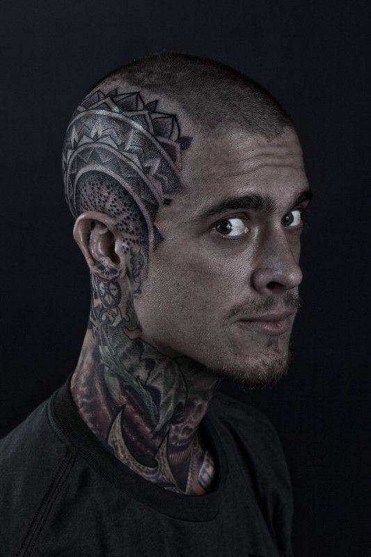 Incredible Head Tattoos Designs