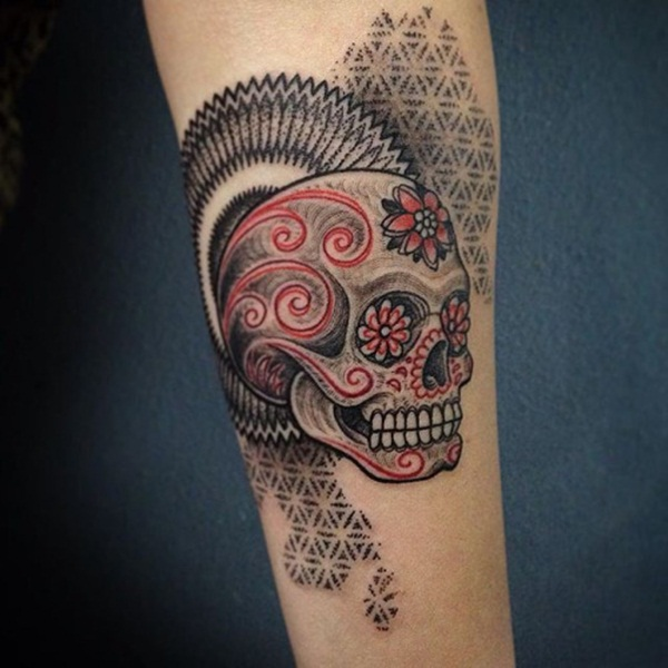 Incredible Red Ink Tattoo Designs