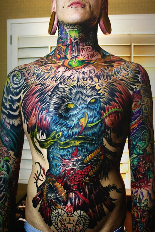 Incredible Stomach Tattoo