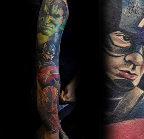 Latest Comic Tattoos Design