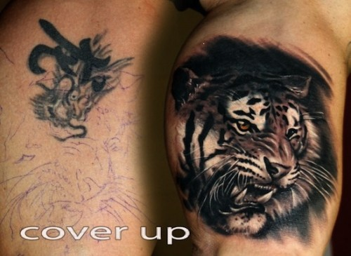 Latest Cover Up Tattoos Design
