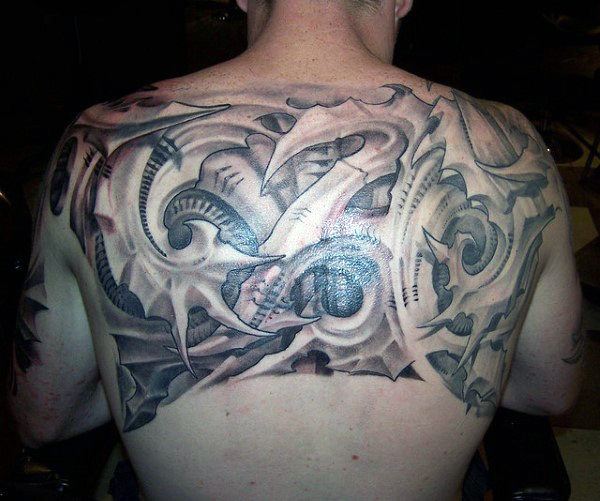 Latest Upper Back Tattoo