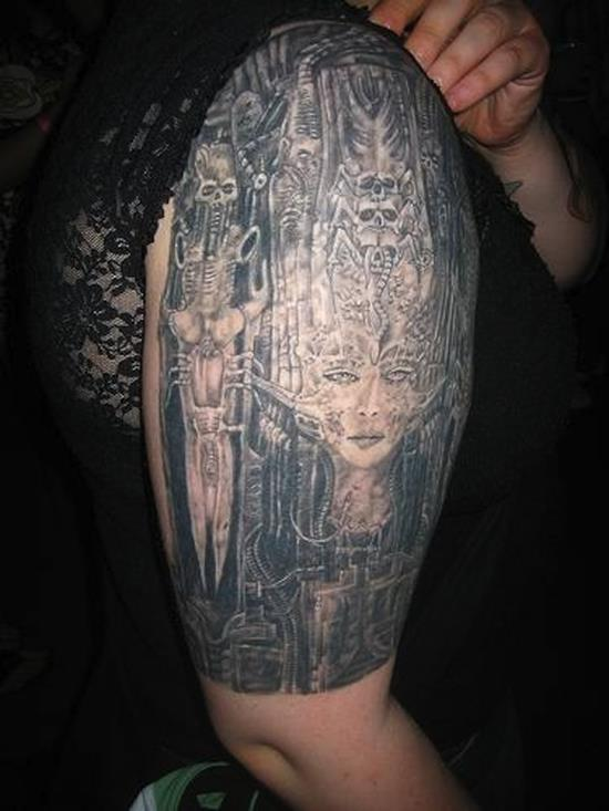 Marvelous Biomechanical Tattoo Designs