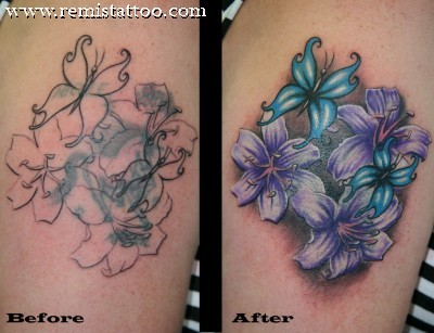 Marvelous Cover Up Tattoos Designs