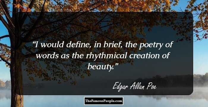 Marvelous Edgar Allan Sayings