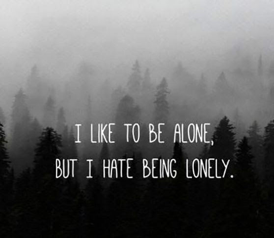 Mind Blowing Alone Quotation