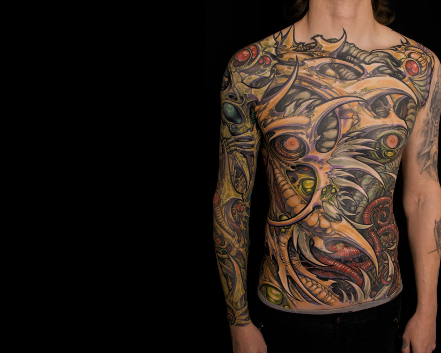 Mind Blowing Biomechanical Tattoos
