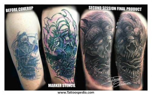 Mind Blowing Cover Up Tattoos Design