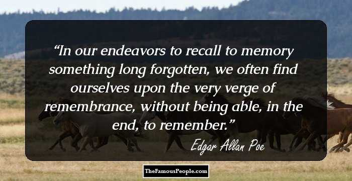 Mind Blowing Edgar Allan Quotations