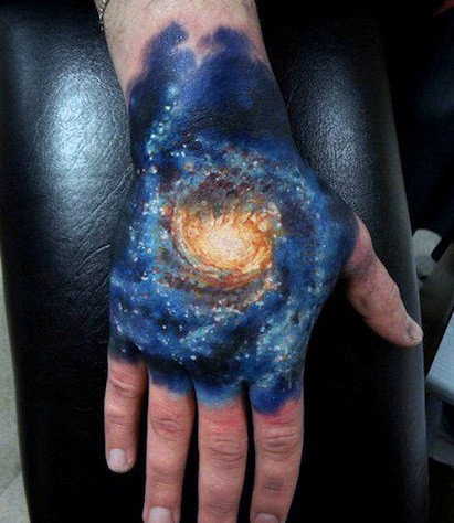 Mind Blowing Hand Tattoo
